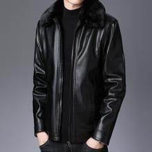 中青年皮衣男中年夹克防风外套