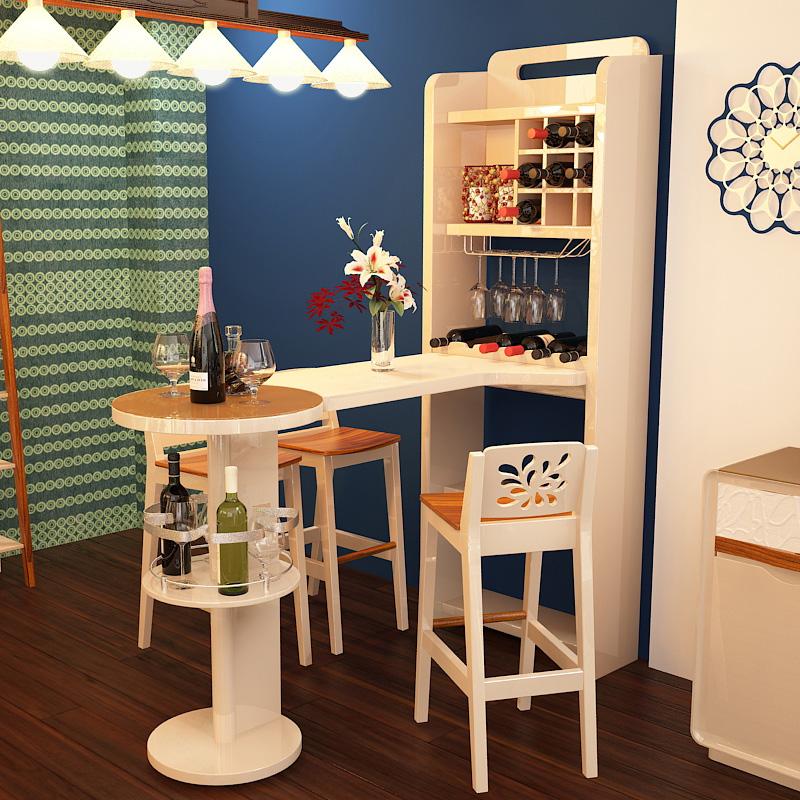 現代簡約家用高玄關吧臺桌子小酒柜一體隔斷陽臺靠墻廚房餐廳客廳