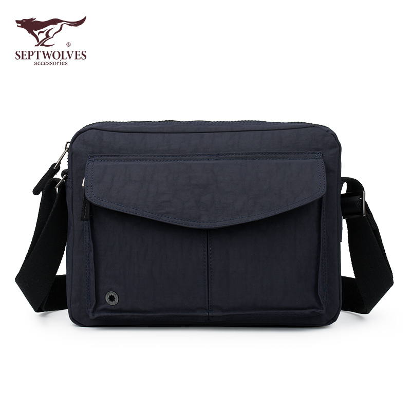 3c916857cfc8 Shoulder bag men s seven wolves new fashion casual cross-section cloth  waterproof oxford cloth small
