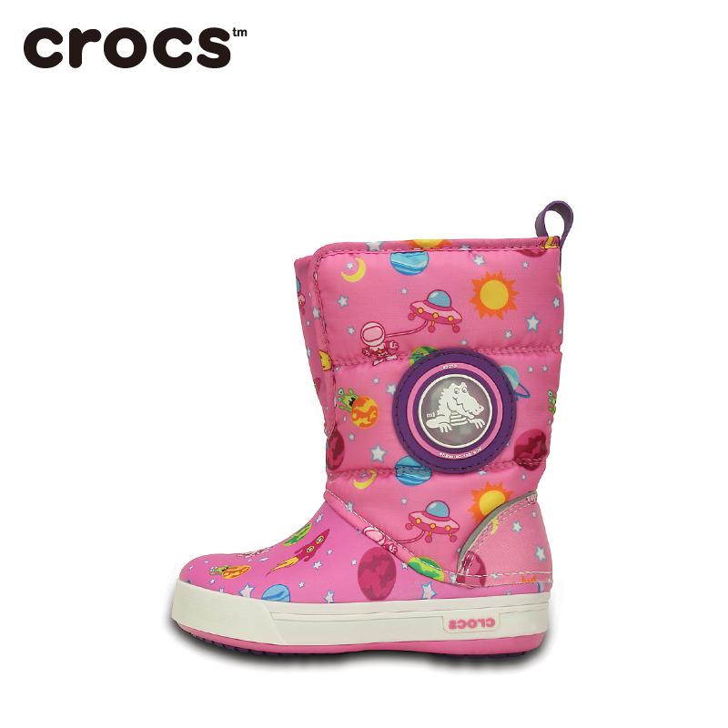 Crocs卡骆驰童鞋酷闪太空冬季阵风靴保暖童靴儿童靴子|202372