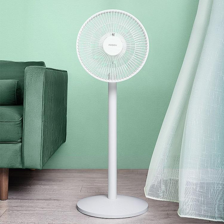 乐秀直流变频风扇台式落地两用静音摇头智能定时家用卧室电扇