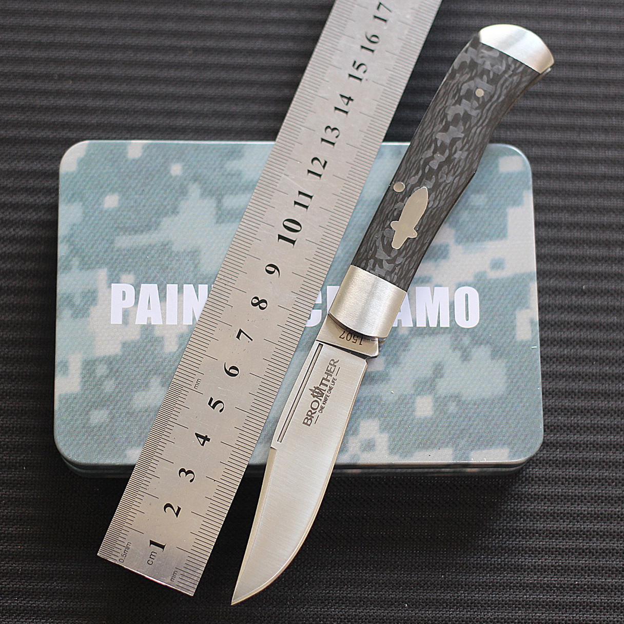 Original Brother pocket folding knife 1507 trout fiber handle VG10 blade material art knife