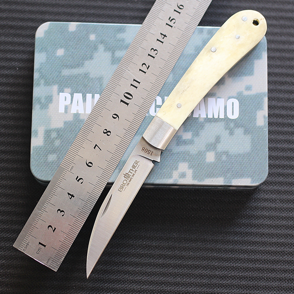 Original brother 1508 lockless pocket bone handle art knife VG10 advanced blade exquisite play EDC
