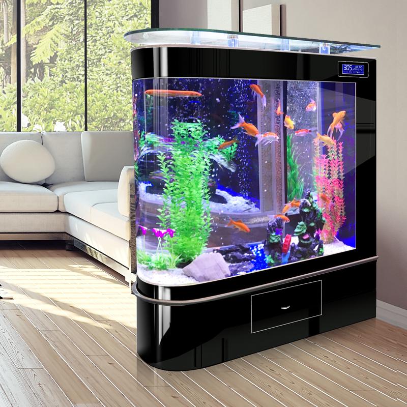 Study Room With Aquarium: Bullet Head Aquarium Living Room Household Medium Aquarium