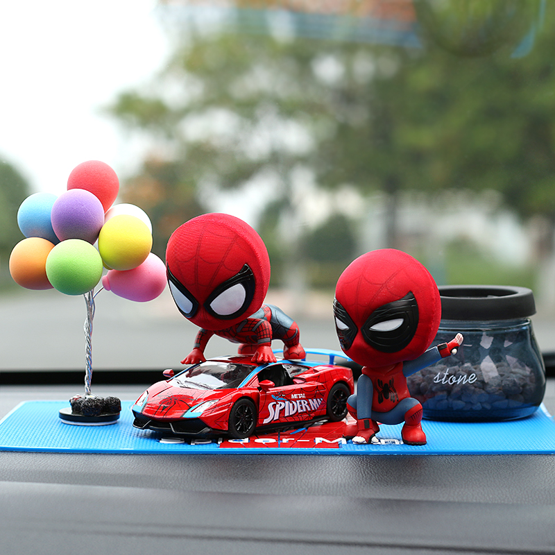 Bf+ Red Sports Car + Color Balloon + Zeolite Perfume  To Send Anti-slip Mat _ Spider