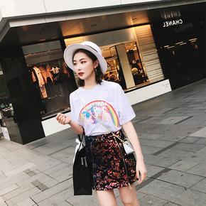 彩虹小马T春夏新品卡通短袖T恤