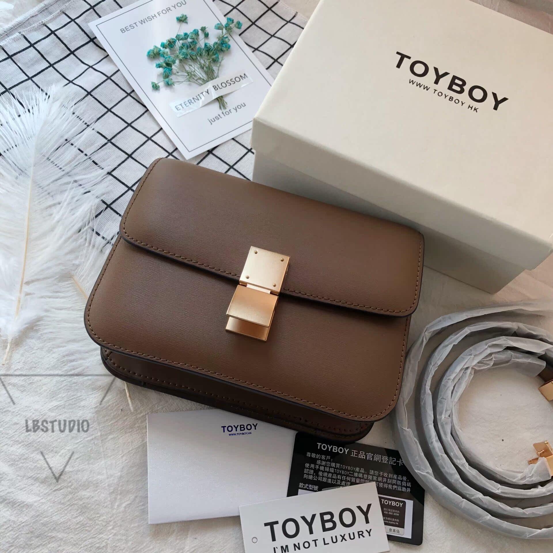 d48f472caa5b ... Hong Kong street brand toyboy calf tofu bag box handkerchief new retro  small square bag handbag