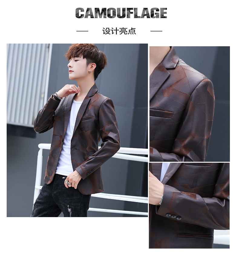 Suit men Korean version slim men casual small suit trend handsome single western coat autumn and winter youth clothes 43 Online shopping Bangladesh