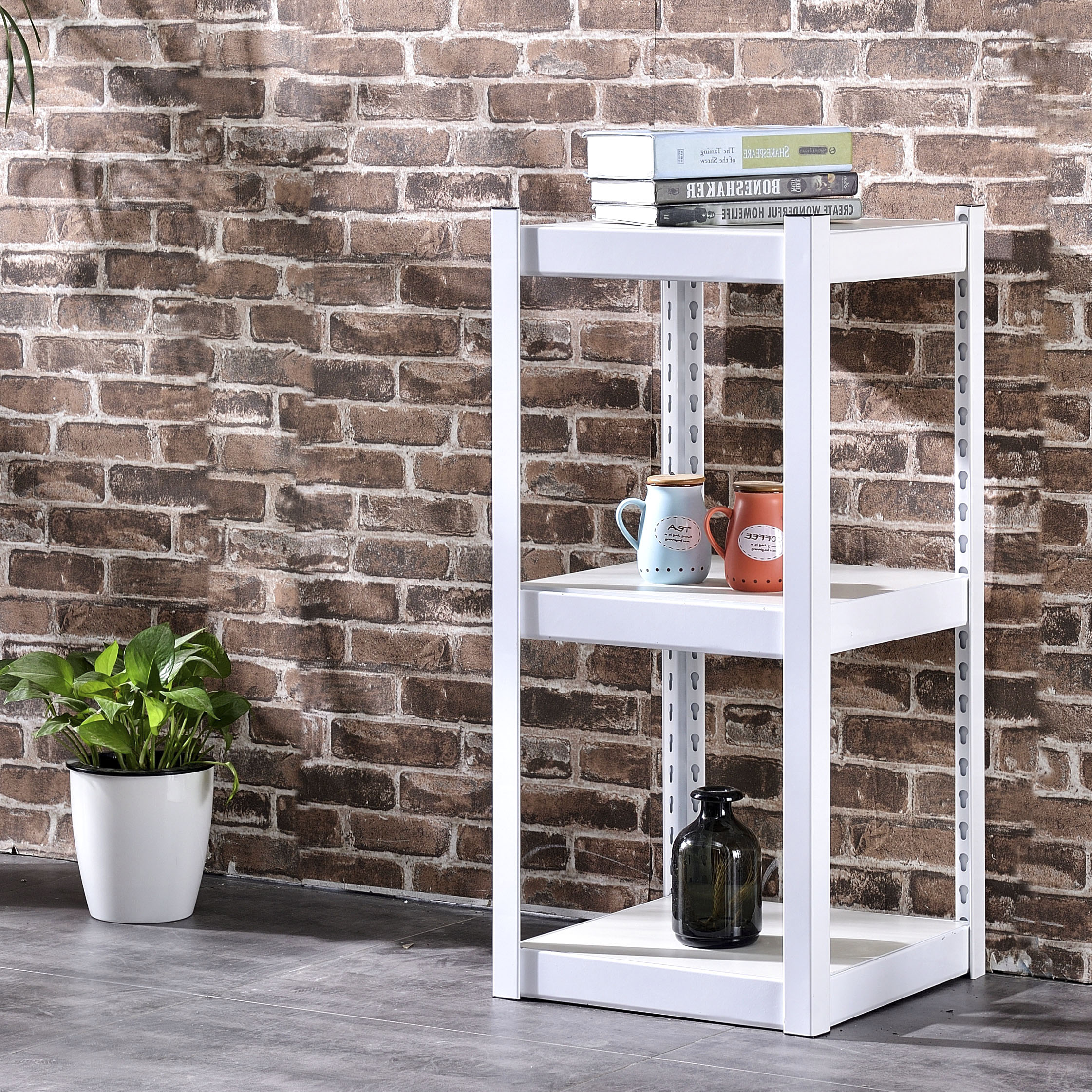White Household Shelves Kitchen Microwave Oven Oven Coffee Table Shelf  Shelf Living Room Balcony Kitchen Display