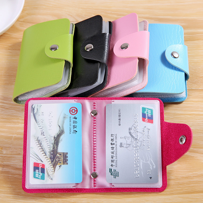 Cute women's multi-card card package anti-degaussing bank card credit card package student card package
