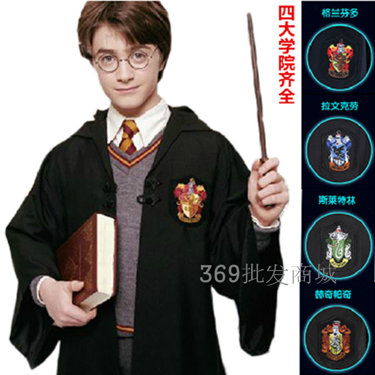 Harry Potter Costume Cosplay Magic Robe Gryffindor Slytherin Hufflepuff  School Uniform