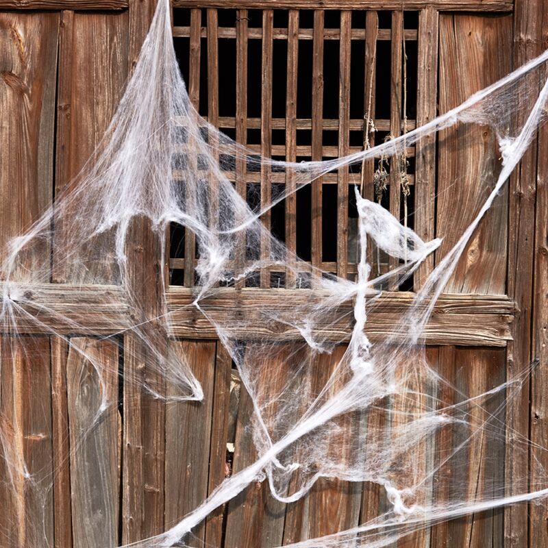 Halloween đạo cụ trang trí nhện bông mô phỏng nhện tơ lụa ma ám ngôi nhà bầu không khí bố trí cung cấp mạng nhện ăn mặc - Sản phẩm Đảng / Magic / Hiệu suất