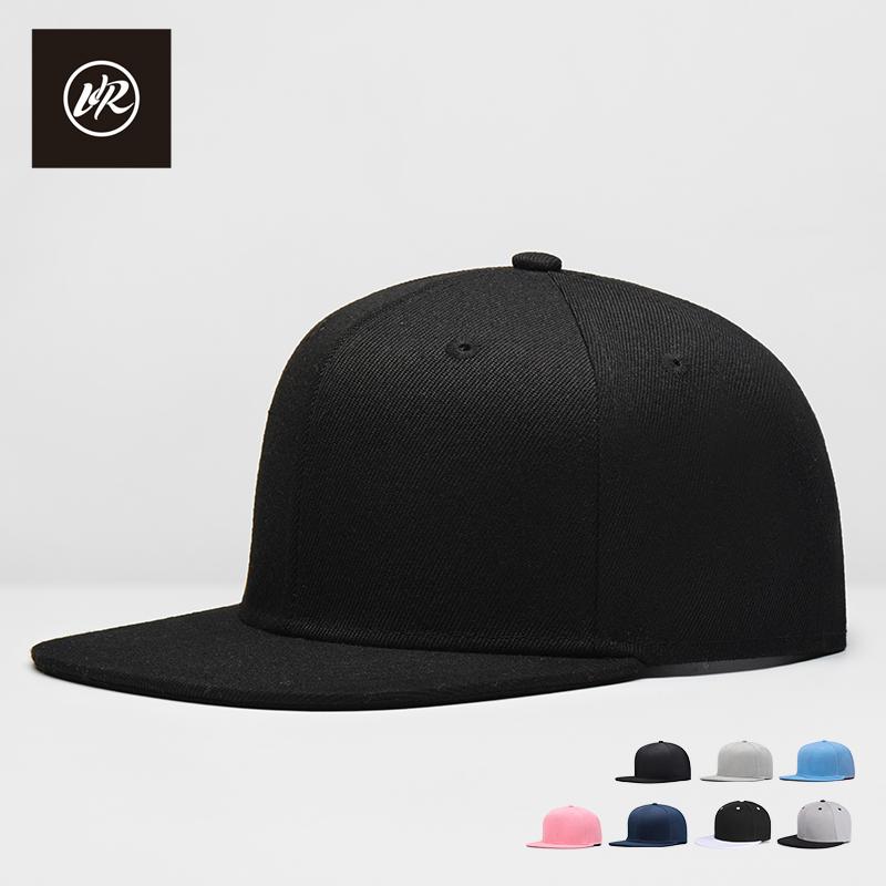平沿帽平檐棒球帽男女士纯色嘻哈帽鸭舌帽子板帽潮遮阳帽春夏天