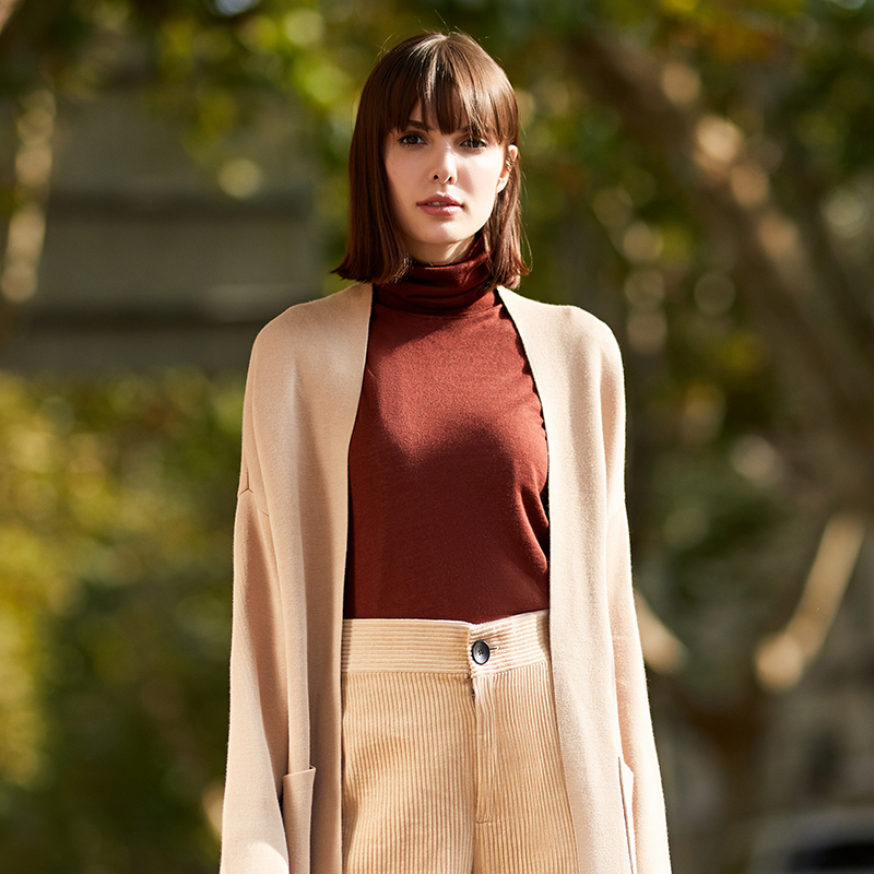 Maxwin 马威 18年冬季新款 纯色高领 女式针织打底衫 聚划算+天猫优惠券折后¥49包邮(¥69-20)3色可选