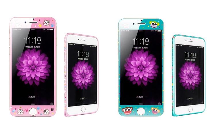 iphone6印花边框 钢化膜_1