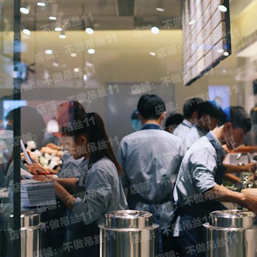 喜茶同款工服纯棉衬衣女奶茶店工作服定制定做LOGO绣花印字灰衬衫