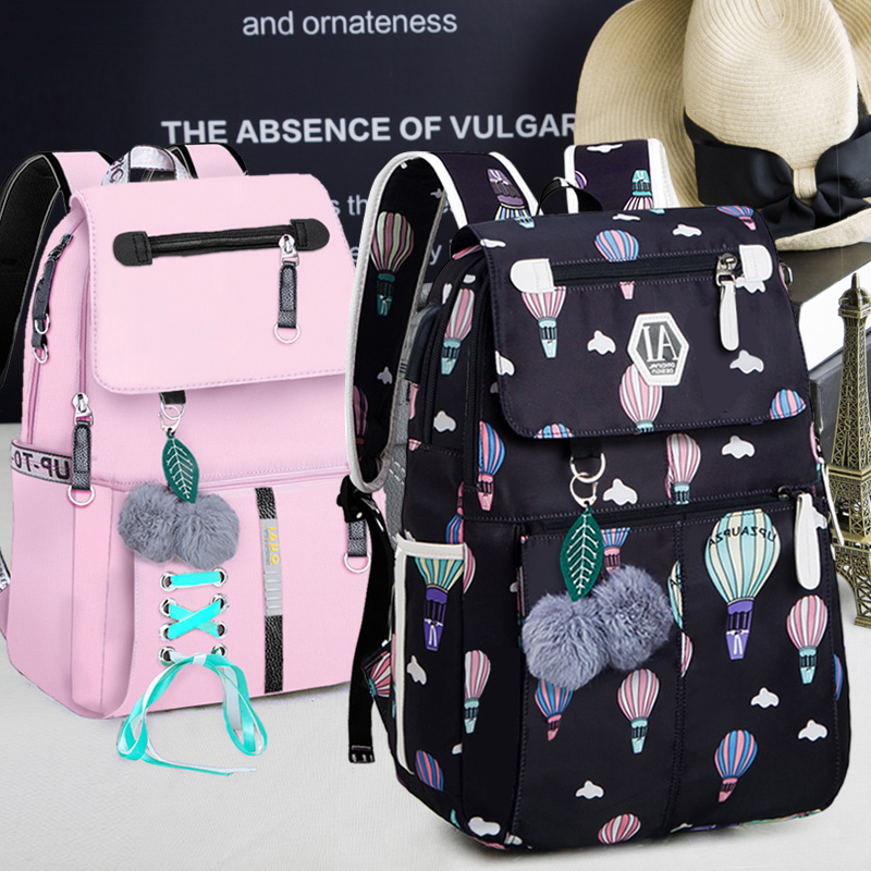 New shoulder bag female casual Korean High School Junior High School Fashion College wind fashion campus bag college students backpack