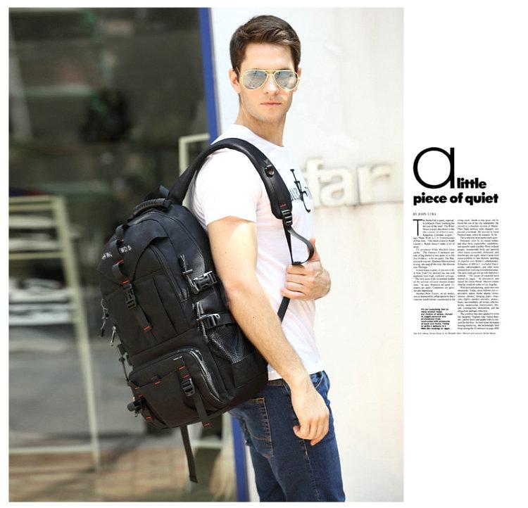 男双肩包运动出差户外登山包大容量休闲旅游旅行健身书包电脑背包商品详情图