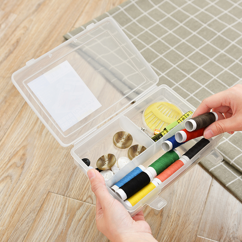 Japan Imported Sewing Box Cross Stitch Tools Storage Box Home 3 Partition  Finishing Box Accessories Finishing