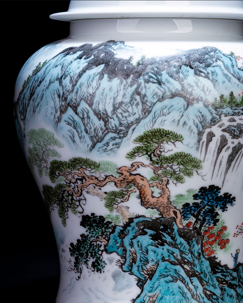 Holy big ceramic tea pot general hand - made new see wind stream store POTS of jingdezhen tea service parts by hand
