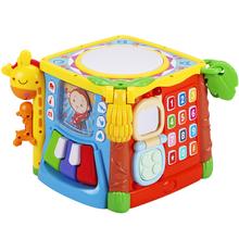 谷雨六面体儿童早教益智音乐拍拍鼓0-1岁宝宝手拍鼓婴儿玩具6个月