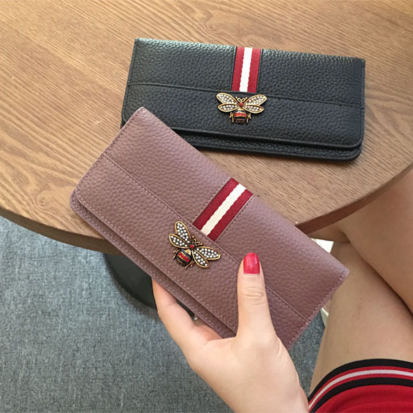 Long wallet women s thin section Simple European and American leather Wild Women s  money wallet leather 2017 f7528b7e1c