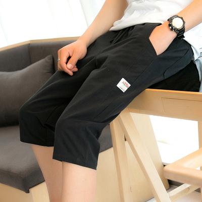 Mùa hè quần ulzzang của nam giới cắt quần mùa hè lỏng linen cotton bông giản dị quần short bãi biển thủy triều