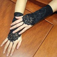 Летний солнцезащитный крем перчатки тонкий стиль Корейское кружево новый женщина перчатки короткий митенка свадебное Свадьба свадьба перчатки