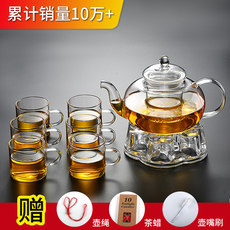 NONXIS high temperature resistant glass tea thickened household teapot filter effort tea set teapot