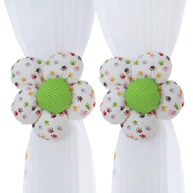 Корейский занавес веревка бандаж милый творческий занавес пряжка бандаж современный простой спальня обязательный цветы кружева наконечник пряжка