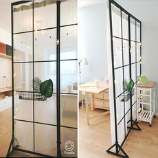 Nordic office iron screen room interval broken wall living room easy simple modern small mobile beauty shop