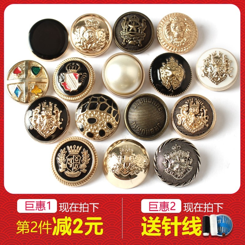 Suit new gold button button high-end metal round big suit high-end coat children's big