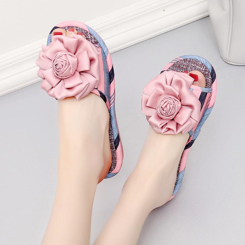 凉拖鞋女夏时尚室内居家地板厚底防滑家用韩版甜美可爱家居拖鞋