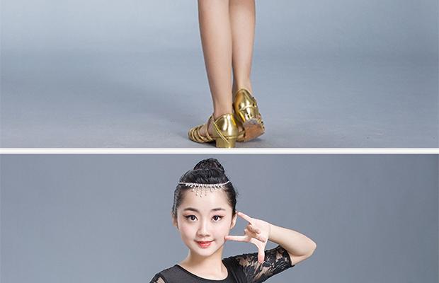 新款儿童拉丁舞裙夏季女孩练功服小学生女童表演服少儿拉丁舞服装16张
