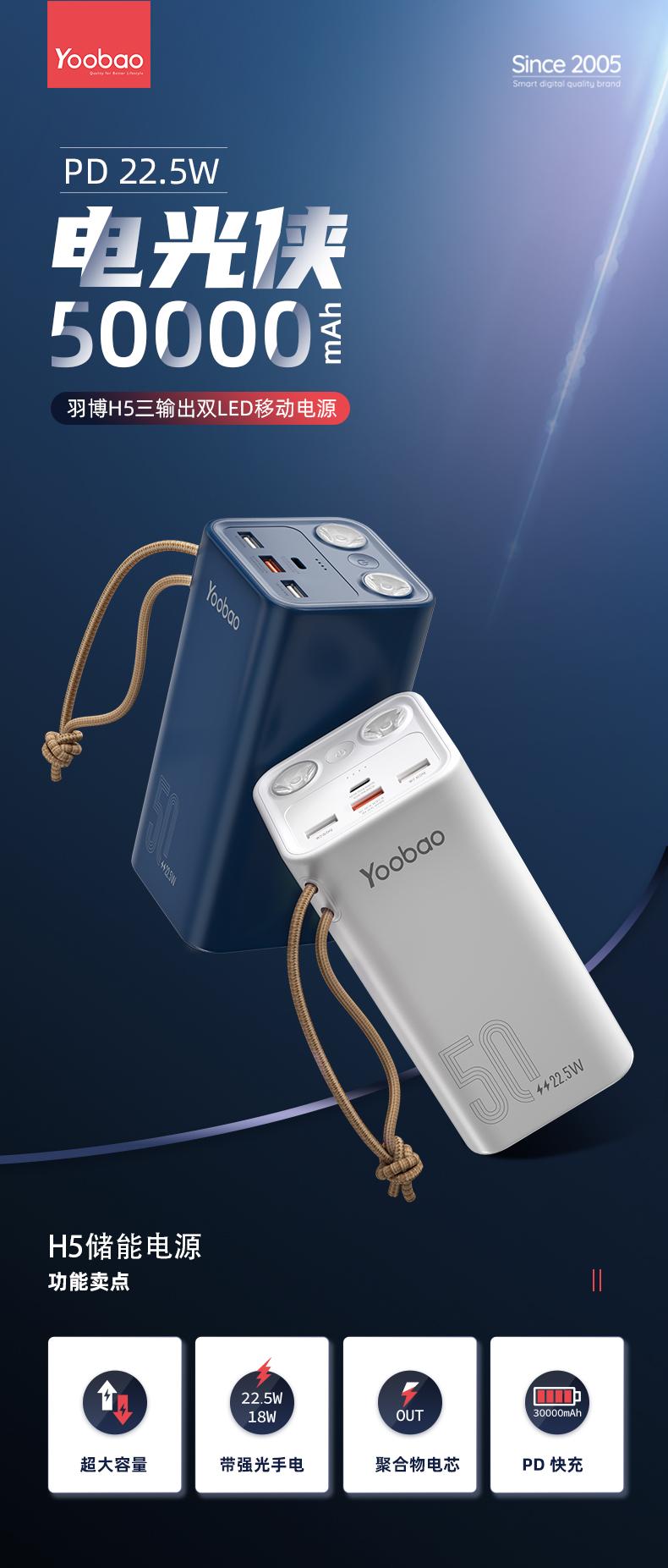 羽博 50000毫安 超级充电宝 图1