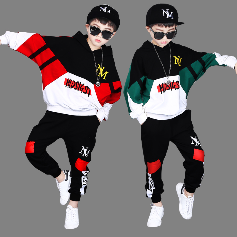 Children's clothing 2019 new boy suit in the Big child Autumn Sweater boy Korean version handsome fat children spring tide
