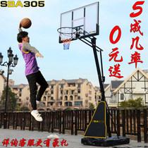 标准篮球架室外落地式家用篮球框成人户外可升降移动训练篮球架子