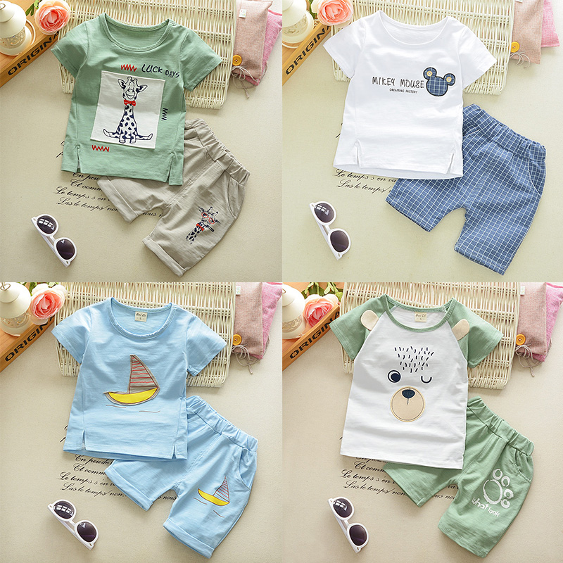 0c4c9d331 Children s clothing summer suit baby child clothes 1-2-3-4-5 years ...