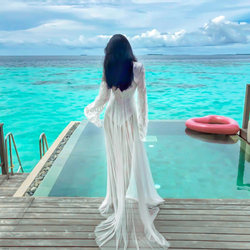 Sanya Maldives Bali beach dress ultra-thin female fairy dress suit Thai seaside resort