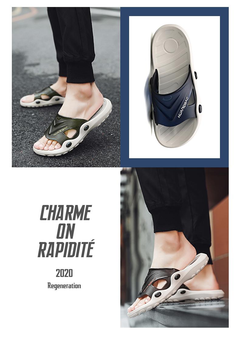 Dép và dép nam mùa hè thời trang mặc ngoài cá tính Hàn Quốc triều 2020 người đàn ông mới ngoài trời kéo dép từ