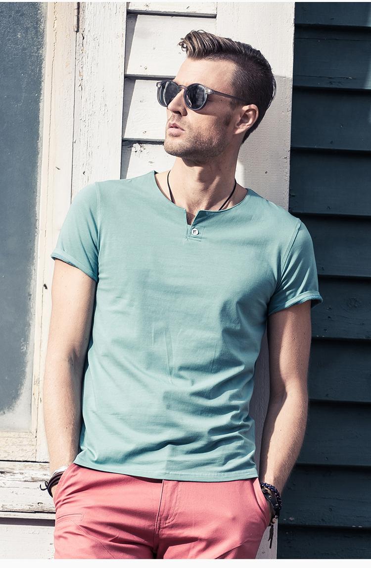 英爵伦 男士短袖T恤 短袖男 t恤男潮流 新款夏装男装半袖体恤衣服