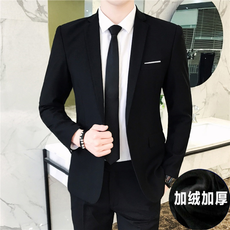 6302 BLACK [SUITS PLUS VELVET THICKENING] + TROUSERS