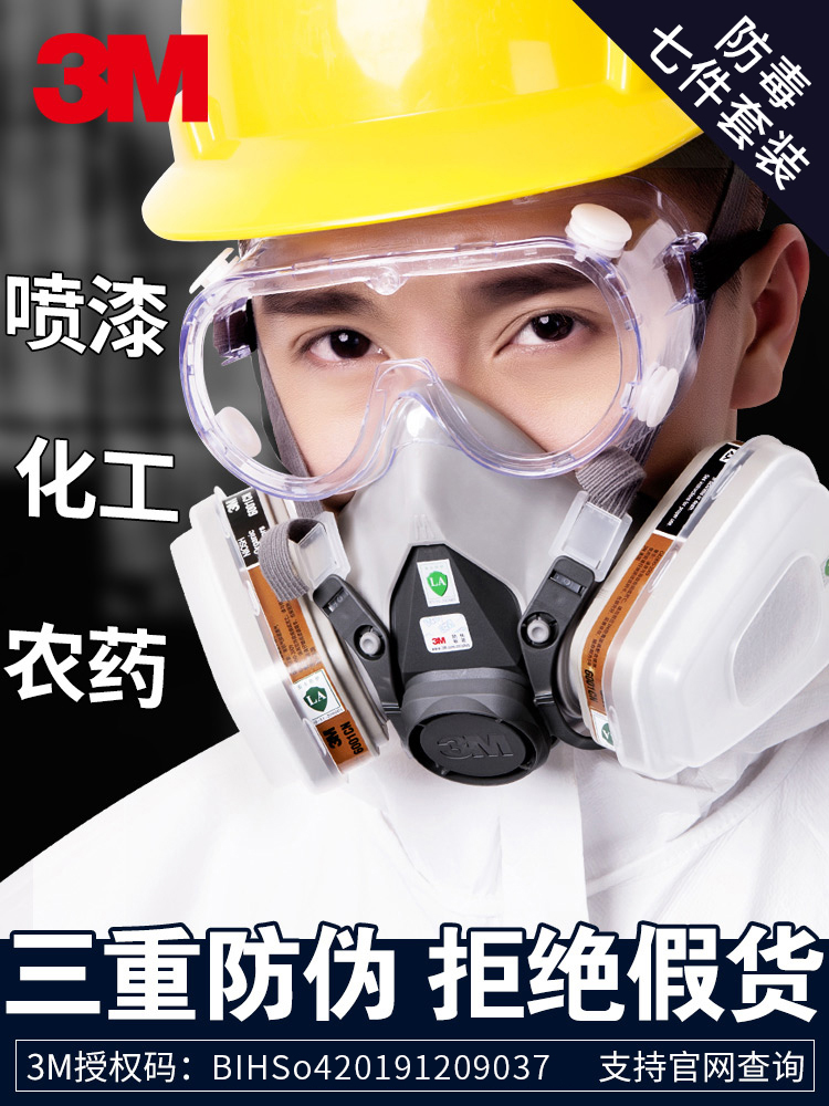 chemical hazmat mask 3m