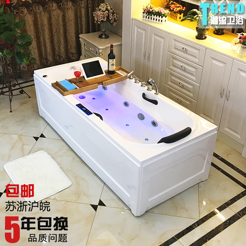 USD 273.21] Freestanding acrylic European-style bathtub surf massage ...