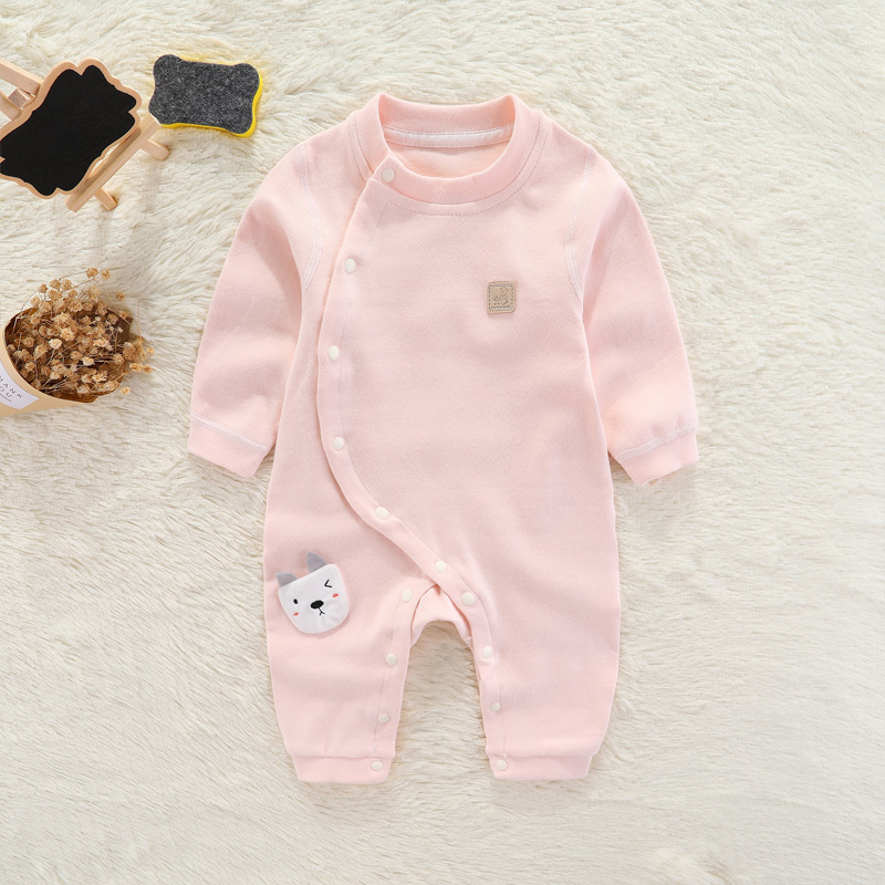 宝宝连体衣长袖婴儿纯棉衣服哈衣0-3-4-5个月6秋季男女睡衣春秋装