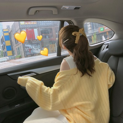 Nihut bubble sleeve lazy sweater cardigan 2021 early autumn new knit loose wild short small outer set of women