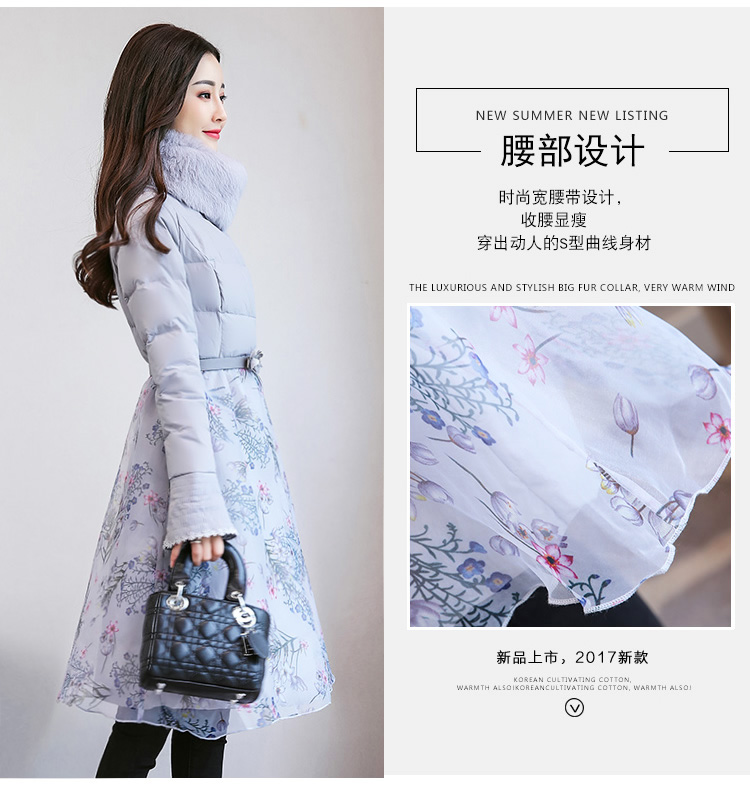 Deep degree of 2018 winter clothing new large size women's autumn and winter mid-length slim cotton clothing jacket 726 44 Online shopping Bangladesh