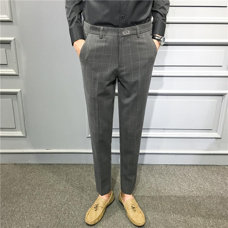 量大---大差价支持18年秋冬新款韩版修身休闲西裤青年男小脚裤