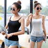 Camisole female summer Korean version of the jacket to wear short jacket black and white wild modal base vest