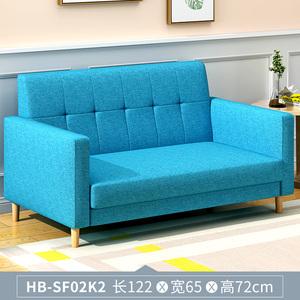 北欧经济小户型客厅懒人简易布艺小沙发网红款出租房单双三人组合